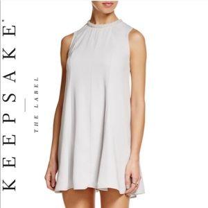 Keepsake the label silver beaded neck swing dress